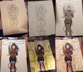 Wonder Woman Process by G-A-AnimeFan4