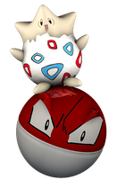 Togepi and Voltorb 3D