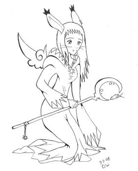Me as a Viera White Mage by DYW14