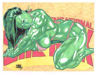 She Hulk In Color by CrushArt2014