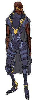 Female Turian: Armor Concept by Aliveat