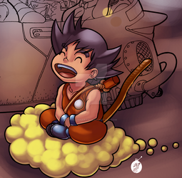 Goku Color Exercise by JPVilchisartist