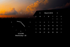 Simple Date Time Widget for xwidget by Jimking