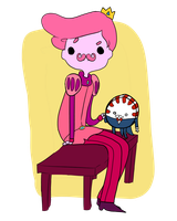 Mustache Gumball and Peppermint Butler by Coffeene