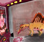 Scene from Dino squad fanfic 'Cursed' by Taliesaurus