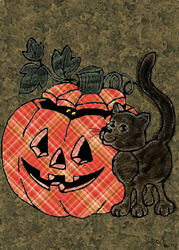 Halloween pumpkin and cat by Limc68