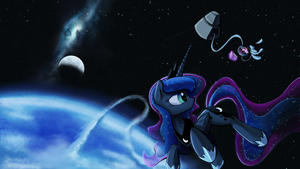 Just a quick space stroll by DarkFlame75