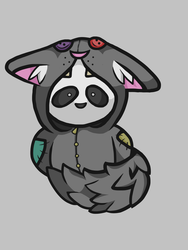Panda in wolf costume by wtxy