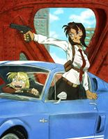 F:Art- Gunsmith Cats 1 by A-Fistful-Of-Kittens