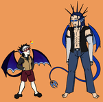 Standing Proud - Draco n Saber [1] by Aisuryuu