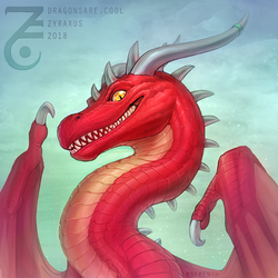 Bust: Mnementh the Red by Zyraxus