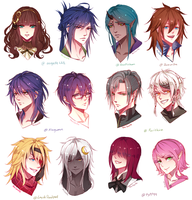 Comm Headshot Sketch Batch 1 by TheCecile