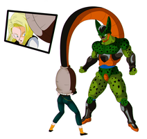 Android 18 absorb by godvore
