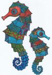 Seahorses by WiccaSmurf