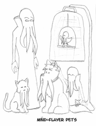 Mind-flayer pets by Luprand