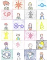 Digimon and Crests by dreamweaver71