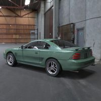 Ford Mustang in a Garage by VanishingPointInc
