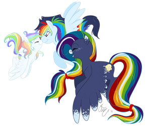 Rainbow kids are dashing by Chib-bee