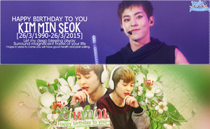 [11022015] Happy birthday to Xiumin - Kim Minseok by Uyenhunhan