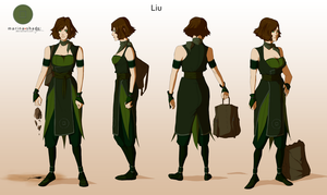 Liu -Avatar character concept design- by Marina-Shads
