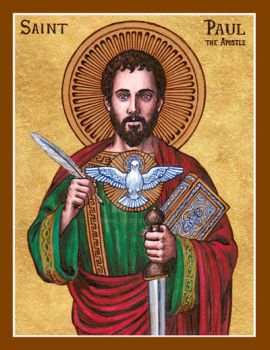 St. Paul the Apostle icon by Theophilia