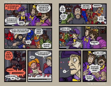 FNAF4 Comic - House Party - Page 48 - 1-23-17 by Mattartist25