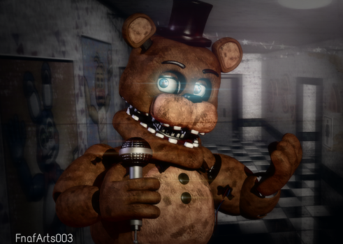 Blender Poster: Withered Freddy by FnafArts003
