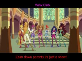 The winx is just a TV SHOW! calm down! by Dodgest