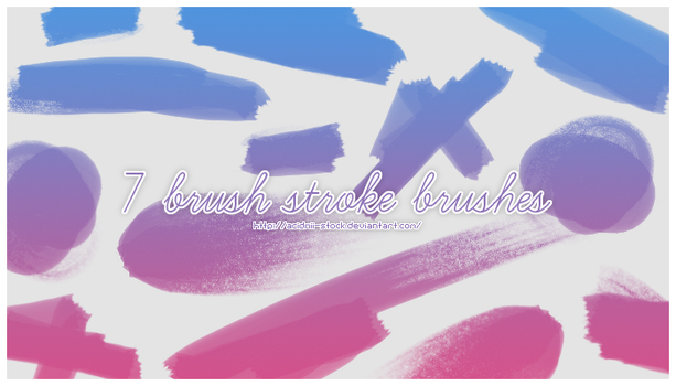 7 Brush Stroke Brushes by acidmii-stock
