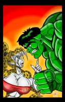 Britanny-Hulk Faceoff by Lonzo1