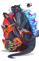 Godzilla vs Speed Metal by GhostHause