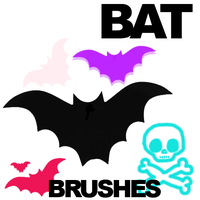 Bat brushes by roflchristine