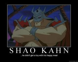 Shao Kahn Demote by AlbertWeskr