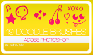 19 doodle brushes by fallie