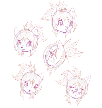 [Sketch] Rachel's head reference by wtfeather