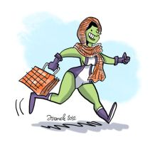 She Hulk wearing a rebozo by Juanele