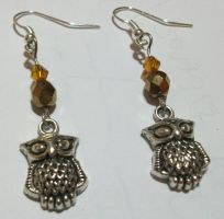 Silver OWL earrings by LaVolpeCimina