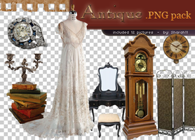 Antique png pack - 12 pictures by Sharah11