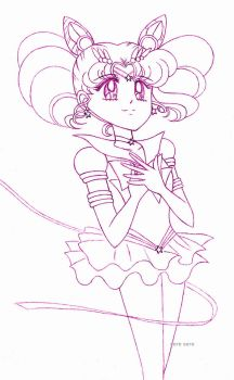 Eternal Sailor Chibimoon sketch by seresere