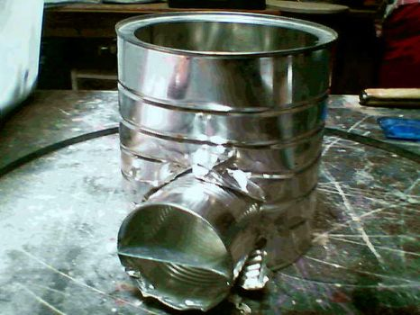 Rocket Stove in progress2 by EddieCHE