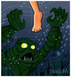 The Creature From the Black Lagoon by mengblom