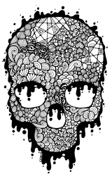 81. Doodles - Skull by MelitaGermaine