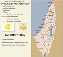 Kingdom of Jerusalem Map, 2015 (Christian Levant) by theirishisraeli