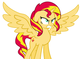 Alicorn Sunset Shimmer Anger by Mighty355