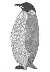 Zentangle Penguin by poreen