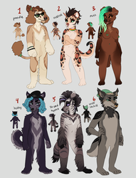 Adoptables 01 CLOSED by Caicyo