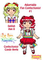 C.C. Adoptable Revealed: Confectionist Candy Apple by Magical-Mama