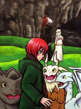Chise and the Baby Dragons by HollyRoseBriar