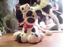 Fimo Dalmation pup by ryliecat