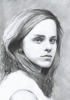 Hermione Granger - Charcoal by simple-sarah
